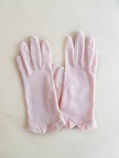 Vintage 50's Pink Van Raalte Gloves by GenevaMaeVintage on Etsyvintage gloves // vanraalte gloves // vintage wedding gloves // pink gloves //vintagegloves