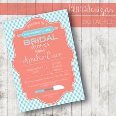 gingham bridal shower invite kitchen pampered chef bridal shower wedding stuff dream wedding