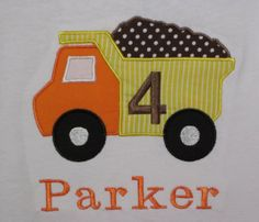 Construction Dump Truck Birthday Shirt or by TheWhimsicalStitches, $20.00