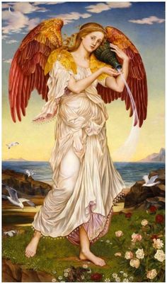 Visit the Ancient world of the ancient Greek goddess Eos. Discover fascinating information about Eos the goddess the dawn. The legends and mythology about the Eos the goddess the dawn. Greek And Roman Mythology, Greek Gods And Goddesses, Eos, I Believe In Angels, Angels Among Us, Pre Raphaelite, Angels In Heaven, Guardian Angels, Religious Art