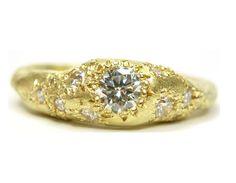Katherine Bowman 18ct yellow gold Nomad ring set with 14 white diamonds