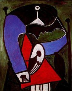 Beeldaspect: Compositie. Asymmetrische compositie. Picasso.