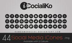 iCocialiKo FREE Social Media iCones by HXDes.deviantart.com on @deviantART