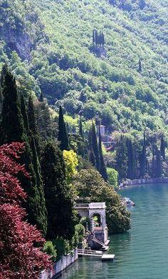 Lake Como Bellagio on Lake Como in Lombardy, Italy