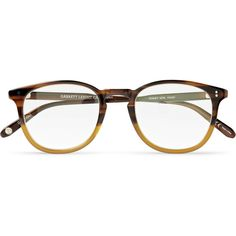 Garrett Leight California Optical Kinney D-Frame Acetate Optical... ($260) ❤ liked on Polyvore featuring men's fashion, men's accessories, men's eyewear, men's eyeglasses, glasses, accessories, sunglasses, eyewear, fillers and brown