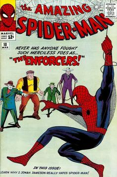 Amazing Spider-Man #10. The Enforcers. Cover by Jack Kirby.