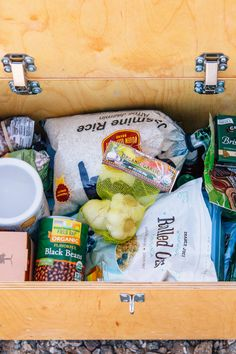 """Whether you're on an extended road trip across the country or camping out for more than a couple nights, a well-stocked camping pantry is essential to answering life's eternal question: """"What's for dinner tonight?"""" Just like at home, the purpose of a camping pantry is to allow you to create complete meals using non-perishable food items as a base. These pantry foods serve as building blocks, from which your favorite meals can be created. As many of you know, we don't often don't travel or…"""