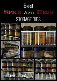 Best Spice And Herb Storage Tips ~ ideas, information and tips for the best way to store spices and herbs.
