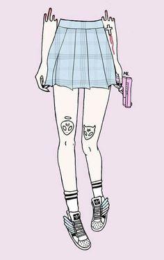 Imagen de pink, gun, and grunge