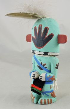 Malakmo, the Runner Kachina is carved in the traditional style by Hopi artist Kevin Chavarria.