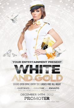 White and Gold Party | FREE Flyer by Valery-10.deviantart.com on @DeviantArt