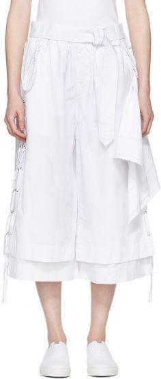 Craig Green: White Cotton Long Layered Shorts   SSENSE