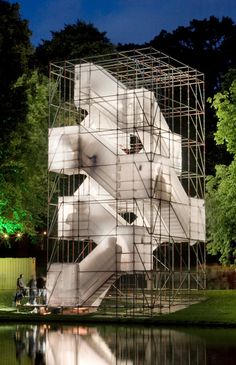 Best Ideas For Architecture and Modern Design : – Picture : – Description Enough Space Jauke van den Brink Cultural Architecture, Temporary Architecture, Landscape Architecture, Interior Architecture, Futuristic Architecture, Pavilion Architecture, Nachhaltiges Design, Modern Design, Temporary Structures