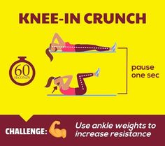 Flat Abs Workout - Knee-In Crunch