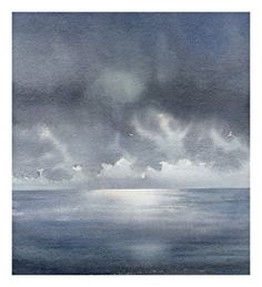 oregon storm 1 by Thomas W. Schaller Watercolor ~ 12 inches x 12 inches