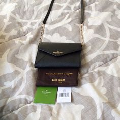 NWT Kate Spade Monday Cedar Street Crossbody Black leather crossbody envelope purse. Got for Christmas but I've never worn it. Removable strap. kate spade Bags Crossbody Bags