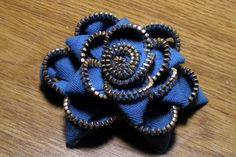 How to make a zipper flower. NO SEWING!!!