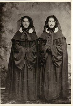 This cloak and bonnet attire is the traditional dress of the Sisters of Mercy when visiting the Sick. Sisters of Mercy of the Americas, Mercy Heritage Center, Buffalo Collection. Daughters Of Charity, Nuns Habits, Religion, Sisters Of Mercy, Runaway Bride, Christ The King, Bride Of Christ, Catholic School, Godly Woman