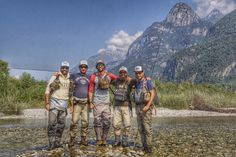 Cool: fishing with friends near Dolomites!!