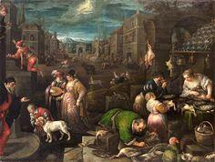 FEVEREIRO – Óleo sobre tela (190 x 144,5 cm) de Leandro Bassono (1557–1622), pintada cerca de 1595/1600. Kunsthistorisches Museum, Viena.
