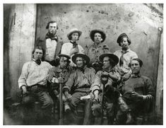 Repository: California Historical Society Digital object ID: CHS2010.238.tif Date: circa 1850s Format: Daguerreotype Preferred citation: [Group of miners], courtesy, California Historical Society, CHS2010.238.tif