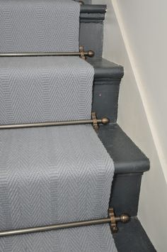 Don't forget we also stock all stair rods and other accessories (Berwick Field with President Carter Antique Bronze stair rods)
