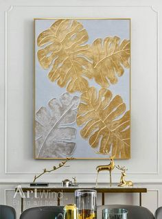 Original Abstract Gold Leaf Tree Painting Impasto Autumn | Etsy Silver Leaf Painting, Gold Leaf Art, Gold Art, Oil Painting Abstract, Texture Painting, Painting Frames, Painting Art, Watercolor Painting, Modern Art Paintings