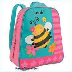 Personalized Bee GoGo Bag, School Book bag, Toddler Backpack, Diaper Bag, Children's Monogramed Backpack, Backpack,School Bag