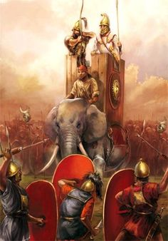 Art by Mirco Paganessi. History Of India, Greek History, Ancient History, Ancient Persia, Ancient Rome, Ancient Greece, War Elephant, Punic Wars, War Image