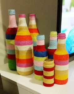 recycling bottles..trying to keep busy, don't know what to do with them all now but I like doing this...