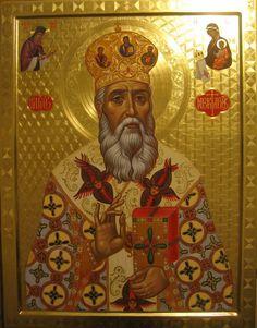 Nektarios by Radoslav Hristov Orthodox Icons, Saints, Princess Zelda, Painting, Fictional Characters, Ornament, Decoration, Painting Art, Paintings
