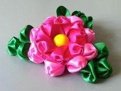 D.I.Y Flor com pétales e folhas diferentes - Fabric flower -tutorial