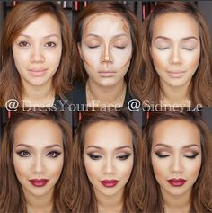 Dress Your Face: Fall makeup-- Not a fan of the contouring, but I love the eyes and the lips!