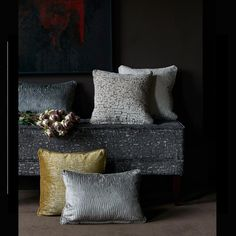 Clarke & Clarke Innovative design and worldwide distribution of beautiful furnishing fabrics, wallpapers and cushions. House Blinds, Blinds For Windows, Fabric Blinds, Curtain Fabric, Clarke And Clarke Fabric, New Condo, Fabric Houses, Innovation Design, Custom Pillows