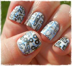 So cute! Back to School Nails | A Girl and Her Polish