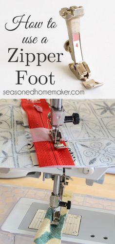 Sewing machine feet: Zipper foot