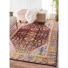 nuLOOM Distressed Traditional Flower Persian Multi Rug (3' x 5') - 18915030 - Overstock.com Shopping - Great Deals on Nuloom 3x5 - 4x6 Rugs. $69