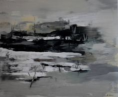 "Saatchi Art Artist: Alusea Gordash; Acrylic 2015 Painting ""winter landscape"""
