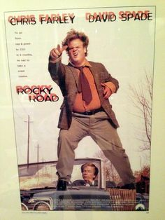 Old Tommy Boy poster {back when it was called 'Rocky Road'} Chris Farley, Loving You Movie, Cap And Gown, Tommy Boy, Comedians, The Man, My Childhood, David, Actors