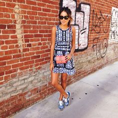 New outfit post wearing @DVF with sneakers! http://sincerelyjules.com #dvfoasis  #Padgram