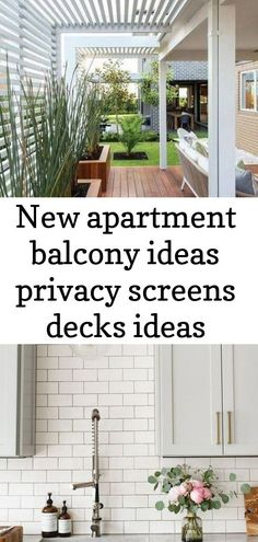 New apartment balcony ideas privacy screens decks ideas Ne. New apartment balcony ideas privacy screens decks ideas New apartment balcony Bamboo Privacy Fence, Balcony Privacy Screen, Privacy Screens, Indoor Garden, Outdoor Gardens, Screened In Deck, Large Tub, Apartment Balconies, Modern Kitchen Design