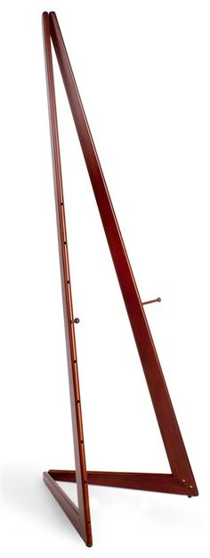 Wood Easel for Floor with Bifold Design, Adjustable Pegs with 9 Set Heights - Cherry