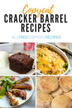 AllFreeCopycatRecipes has of copycat recipes from secret restaurant recipes to grocery store copycats. Whether you're looking for Cracker Barrel recipes or Olive Garden replicas, we've found the secret to your favorite restaurant recipes. Cracker Barrel Meatloaf, Cracker Barrel Chicken, Copykat Recipes, Gourmet Recipes, Cooking Recipes, Applebees Recipes, Cooking Games, Pastry Recipes, Cooking Videos