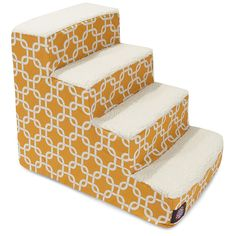 4 Step Portable cat Stairs By Majestic cat Products Yellow Links Steps for Cats and Dogs >>> Hurry! Check out this great product : Cat Beds and Furniture