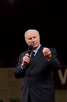 Jimmy Lee Swaggart (born March 15, 1935) is an American Pentecostal pastor, teacher, musician, author, and televangelist. He has preached to crowds around the world through his weekly telecast. According to the official website for Jimmy Swaggart Ministries, his 1980s telecast was transmitted to over 3,000 stations and cable systems each week.