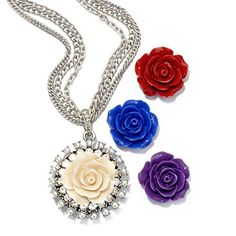 Rose Necklace Gift Set Flower Necklace Boxed Gift Set Rose Pendant Bridesmaids Gift * Want to know more, click on the image.(This is an Amazon affiliate link and I receive a commission for the sales)