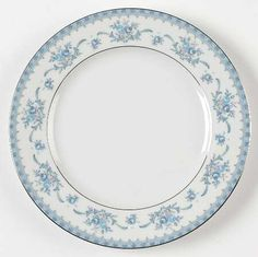 """Cahill"" china pattern with blue floral swirls from Sango."