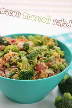 Bacon Broccoli Salad #bacon #broccoli #healthy