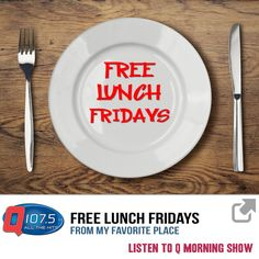 WIN LUNCH for your office from My Favorite Place. Listen to Q Morning Show for chances to win Free Lunch Fridays! http://ift.tt/1PxgyHR