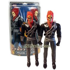 MGA Entertainment Year 2006 Marvel Series Real Working 12 Inch Tall Action Figure Walkie-Talkies : GHOST RIDER (1 PAIR)